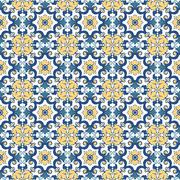 Vector ceramic tiles with seamless pattern - stock illustration