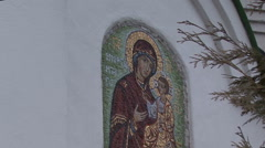 Fresco of the Church Stock Footage