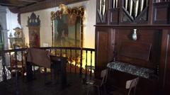 4k Parish Nossa Senhora do Monte Madeira indoor panning Stock Footage