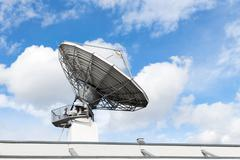 Large satellite communication parabolic dish radar antenna station or astrono Stock Photos