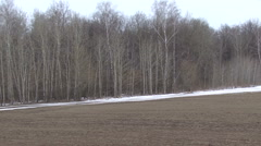 Russian  countryside landscape panning Stock Footage