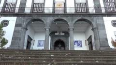 4k Parish Nossa Senhora do Monte Madeira outside tilt Stock Footage
