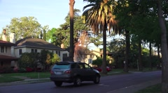 H st. traffic East Sacramento Stock Footage