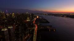 New York City Aerial - stock footage