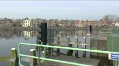 Blokzijl,The Netherlands,-march 2015, Harbor of Blokzijl Stock Footage