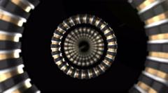 Spinning Metallic Rings 01 Stock Footage