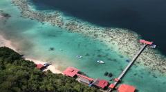 Sabah Borneo Tun Sakaran Marine Park Malaysia ocean - stock footage