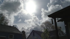 Before the Rain Comes Time Lapse Over Houses Stock Footage