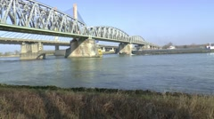 Driving over the Martinus Nijhofbrug, Stock Footage