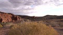 Desert Corral Jib Stock Footage