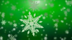 Christmas falling snow - seamless loop Stock Footage