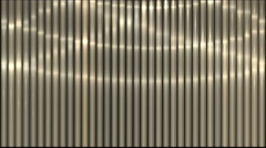 4k waving light on metal strips,stainless-steel lines rhythm,vj music backdrop. Stock Footage