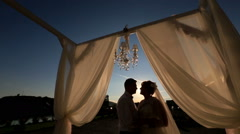 Kiss at sunset 2 Stock Footage