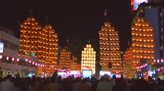 Traditional Matsuri festival, Akita Prefecture, Japan - stock footage