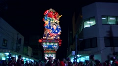 Matsuri festival, Aomori Prefecture, Japan - stock footage