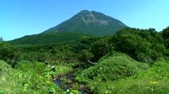 Mount Rausu, Hokkaido, Japan Stock Footage