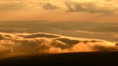Morning fog, Iwate Prefecture, Japan Stock Footage