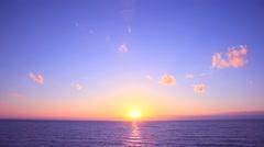 Sunset at sea, Akita Prefecture, Japan Stock Footage