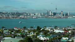 Auckland City, New Zealand Stock Footage