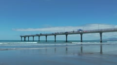 Stock Video Footage of Pier in Christchurch, New Zealand