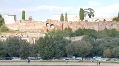 Palatine Hill, Rome, Italy Stock Footage