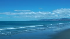 Stock Video Footage of Sea at Summer, Christchurch, New Zealand