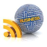 Business information concept, 3d render Stock Illustration