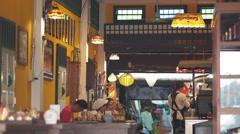 A restaurant at the Mekong,Nong Khai,Thailand Stock Footage
