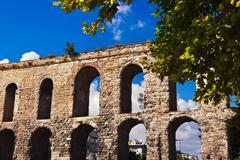 Aqueduct at Istanbul Turkey Stock Photos