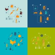 Agriculture flat infographic Stock Illustration
