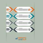 Infographic label design element.vector illustrator design template. - stock illustration