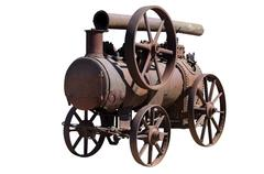 Machine by a steam engine Stock Photos