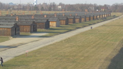 Auschwitz-Birkenau Extermination Camp Stock Footage