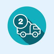 Icon for vehicle delivery services and goods Stock Illustration