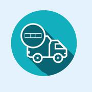 Icon for vehicle delivery services and goods - stock illustration