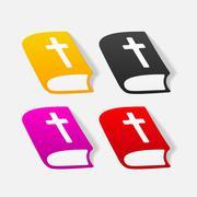 Stock Illustration of realistic design element: bible