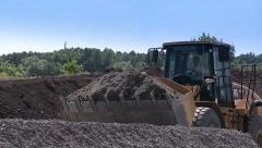 Construction equipment at work. Building. Bulldozer. Stock Footage
