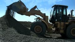 Bulldozers are gaining a scoop rubble. Building. Stock Footage