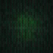 Hex-code digital background Stock Illustration