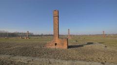 Auschwitz-Birkenau concentration camp Stock Footage