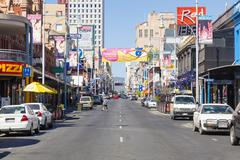 View of Hindley Street in Adelaide, South Australia Stock Photos