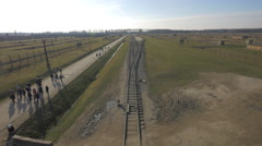 Railways at Auschwitz Extermination Camp Stock Footage