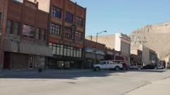 Editorial shot Historic downtown of Helper Utah Stock Footage