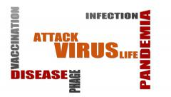 virus relative tags cloud - stock footage