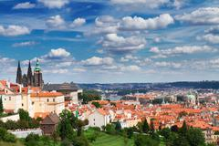 view of  Prague from Hradcany district - stock photo