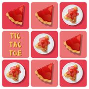 Stock Illustration of Tic-Tac-Toe of crepe and tart