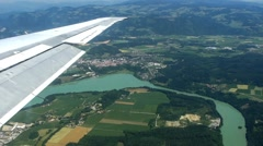 landscape from the airplane - stock footage