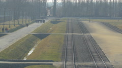 Railways at Auschwitz Stock Footage