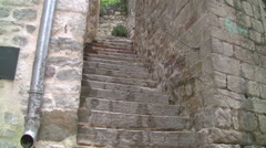 Stone stairs Old  City Kotor full HD Stock Footage