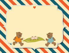 Customizable childish background Stock Illustration